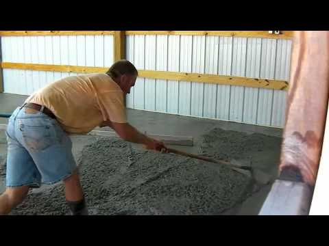 Bat Shop Concrete Floor Pour - Time Lapse