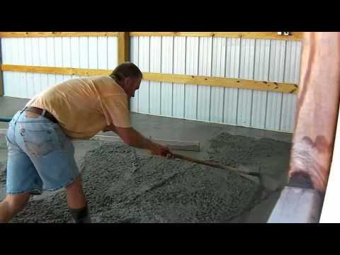 Bat Concrete Floor Pour Time