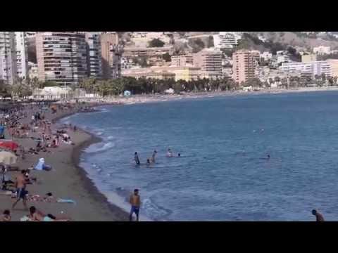 La Malagueta Beach near Port of Malaga