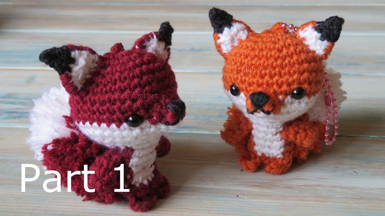amigurumi fox keyring how to crochet part 1 youtube