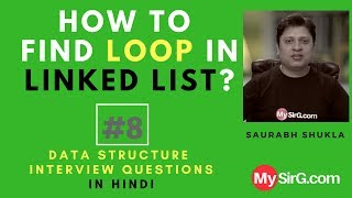 #8 How to find loop in singly linked list