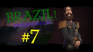 Civilization 6 Gameplay - Brazil/Deity - Episode 7: Quick Boats, Quick Victory