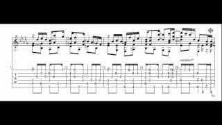 Graceful Ghost Rag - Modern ragtime on guitar; only audio with tab sheet