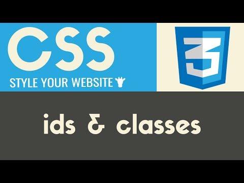IDs & Classes | CSS | Tutorial 11