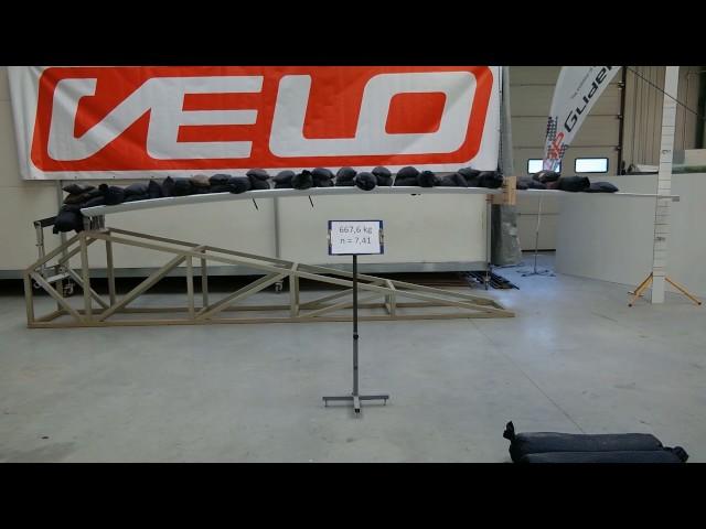 GP 14 VELOs wing destruction test