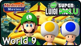 New Super Luigi U - World 9 - Superstar Road (3 Players, 100% Walkthrough)