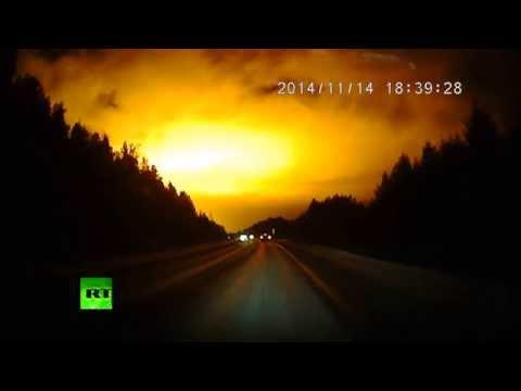 UFO? Meteor? Blast? Massive light flash over Russian Urals stuns locals, scientists (DASHCAM)
