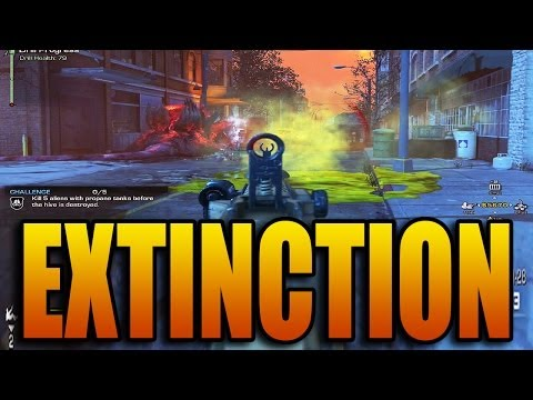 EXTINCTION GAMEPLAY! Call of Duty: Ghosts Alien Mode Strategy Review (COD Ghost Aliens Game Play)