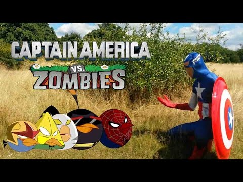 Real Life Captain America and Angry Birds Vs Zombies