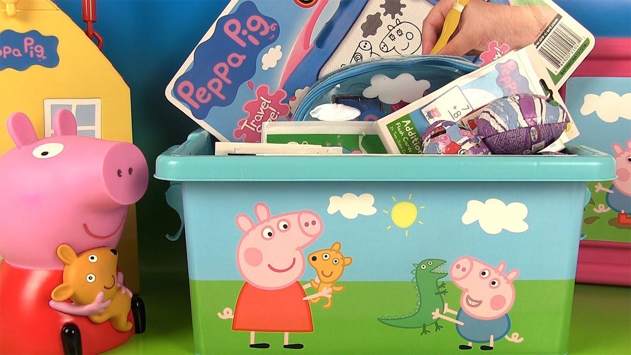jouets de peppa pig bo te remplie de surprises youtube. Black Bedroom Furniture Sets. Home Design Ideas