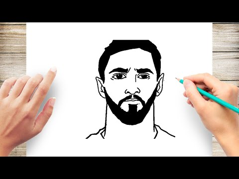 How to Draw Lionel Messi Step by Step