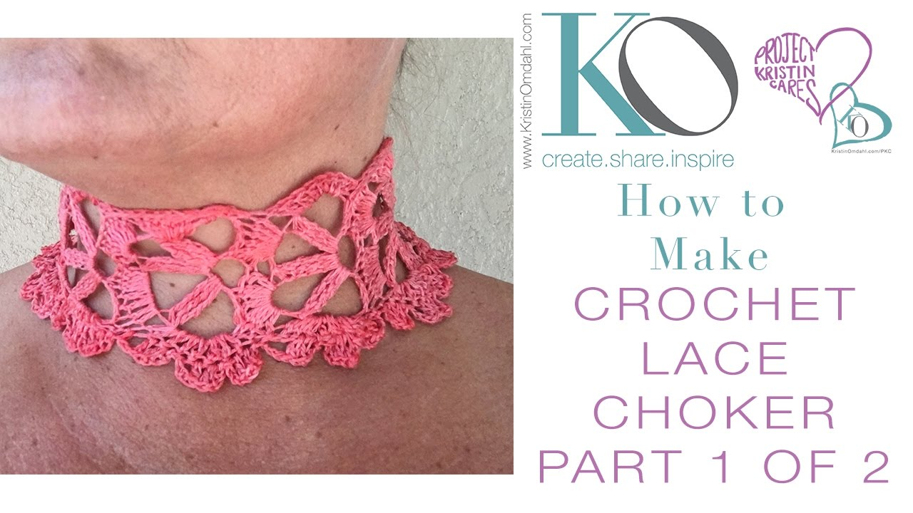 How to crochet lace choker part 1 of 2 youtube bankloansurffo Image collections