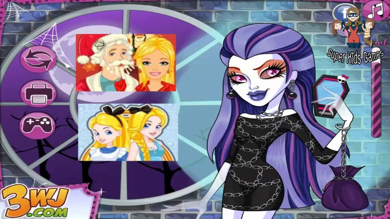 Monster High Spectra Vondergeist Hairstyle Monster High Dress Up - Monster high dress up games spectra hairstyle