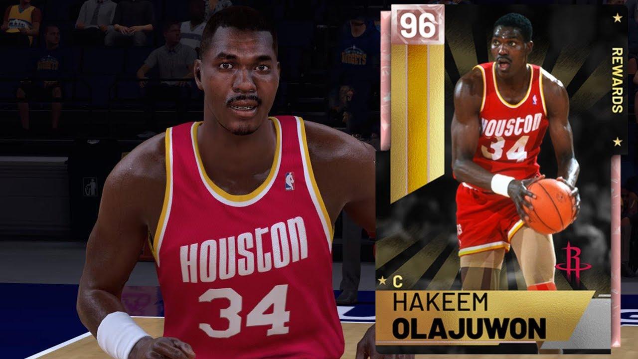 NBA 2K19 MyTEAM - Pink Diamond Hakeem Olajuwon Gameplay (Rewards - Player  of the Month)