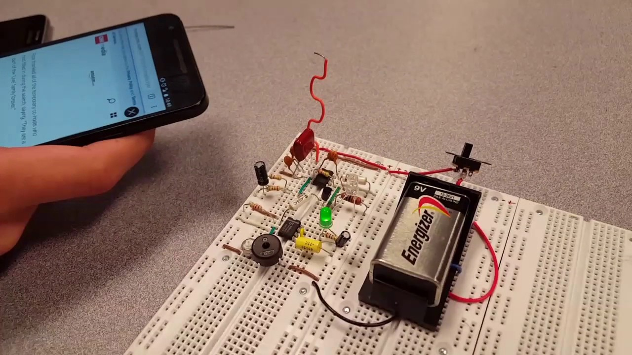 Cell Phone Frequency Detector Circuit Test Youtube