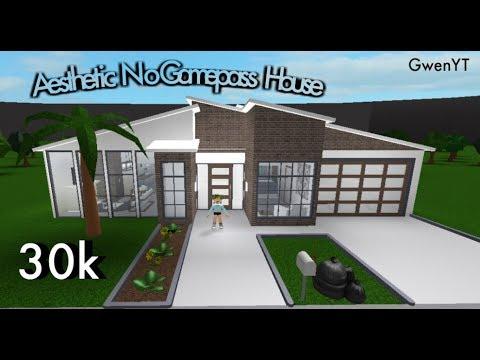 Bloxburg Aesthetic No Gamepass House 30k Youtube