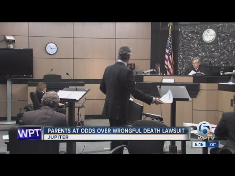 Parents at odds over wrongful death lawsuit