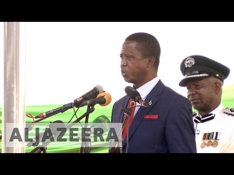 Zambia's Edgar Lungu sworn in after disputed vote