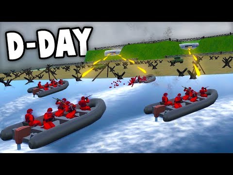 NEW D-Day OMAHA BEACH!  Amphibious Invasion MAP!  (Ravenfield New Map Gameplay)