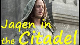Why is Jaqen in Oldtown? (Game of Thrones, ASOIAF)