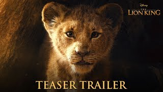 The Lion King (2019) - Official Teaser Trailer - James Earl Jones, Chiwetel Ejifor, Seth Rogen, Donald Glover, Beyonce Knowles