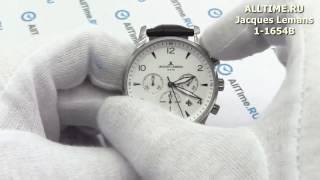 Обзор. Мужские наручные часы Jacques Lemans 1-1654B с хронографом