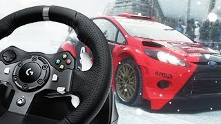 Dirt Rally Gameplay With The Logitech G920 - Loads of Fun!
