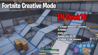 Fortnite Creative Mode - FN-Deck16 Testing Stage - Elimination Map - Purpose: Aim Training