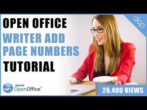 How To Add Page Numbers To Open Office Writer Document Tutorial