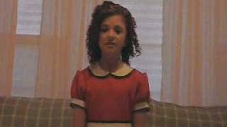 "Addie Williams singing ""Maybe"" from ""Annie"""