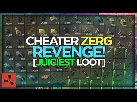 American CHEATER ZERG RAID! [INSANE LOOT] (VANILLA RUST #131 S13)