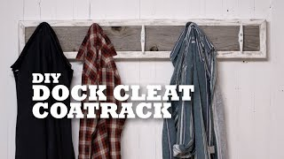 DIY Dock Cleat Coatrack