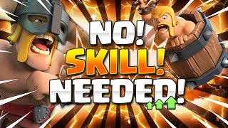 This is the EASIEST DECK in Clash Royale NOW!! ZERO SKILL NEEDED TO WIN!! 🏆
