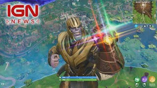Thanos Gets Nerfed in Fortnite/Avengers Crossover - IGN News