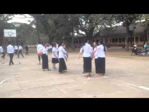Training basketball in kampong Thom high school