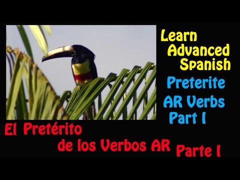 Learn Spanish-Preterite AR Verbs (Part 1)