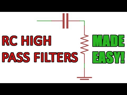 Passive RC high pass filter tutorial!