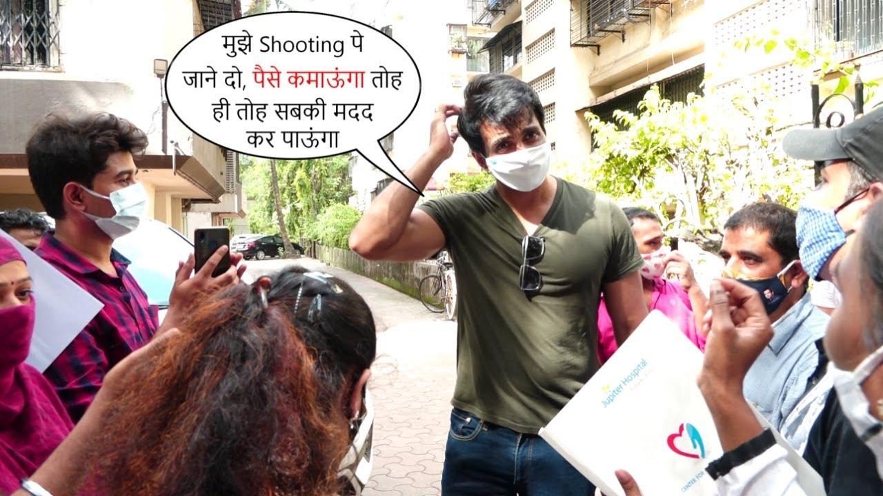 मुझे जाने दो😯..Helpless Sonu Sood Gets Mobbed By Help Seeking People Outside His Building🥺