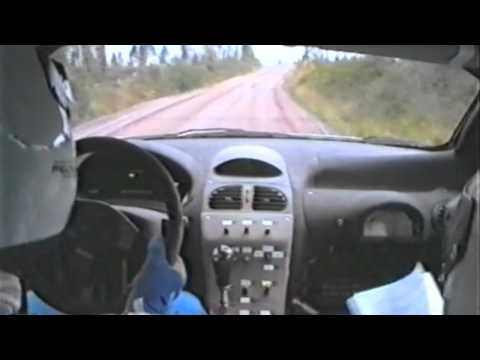 Marcus Grönholm & Peugeot 206 WRC In Action - Mänttä 200 Rally 1999 In Finland