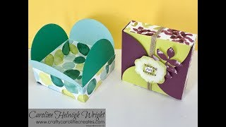 Oh So Eclectic Interlocking Circles Lid Gift Box - Video Tutorial with Stampin' Up Products