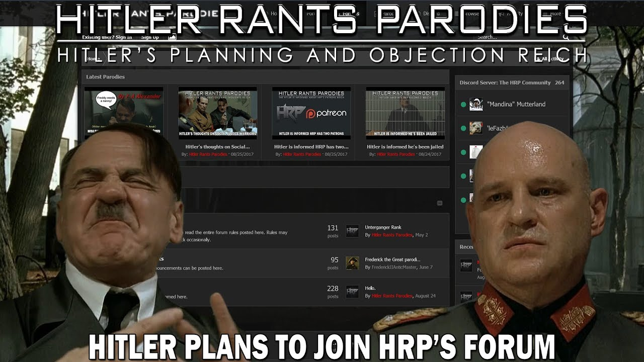 Hitler plans to join HRP's Forum