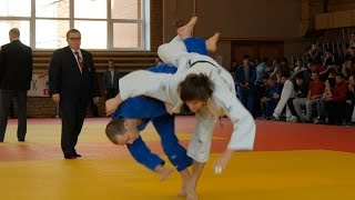 Judo competitions in Russia among young man judoists