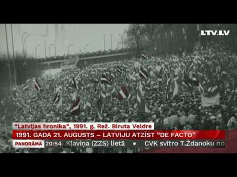 """1991. gada 21. augusts – Latviju atzīst """"De facto"""""""