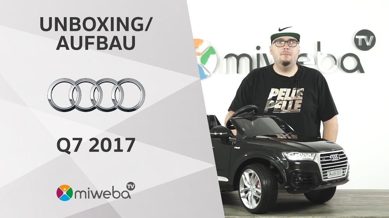 Unboxing Kinder Elektroauto Auto Audi Q7 Modell 2017 Deutsch