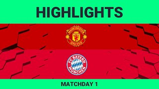 Manchester United vs FC Bayern Munich| Highlights Matchday 1 eFootball.Pro 2019-2020