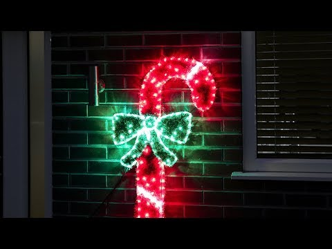 Red white rope light tinsel candy cane li171034 youtube red white rope light tinsel candy cane li171034 mozeypictures Gallery