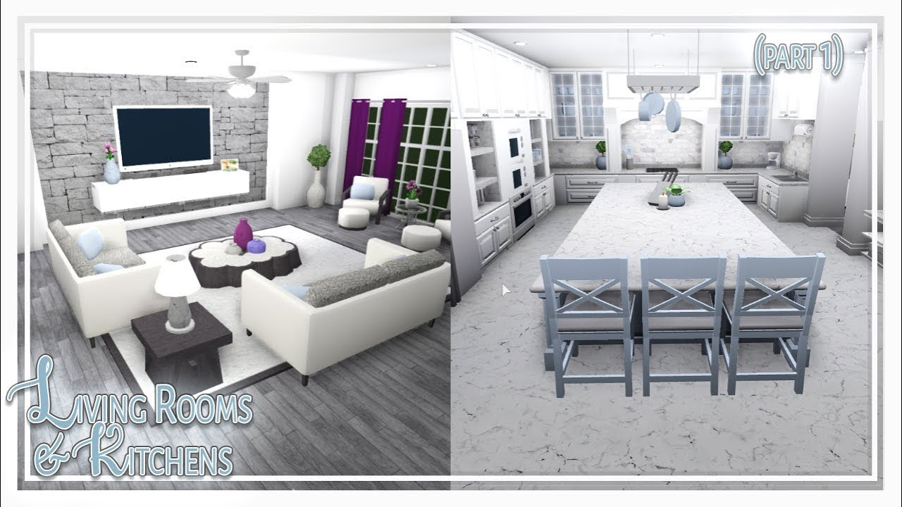 Bloxburg  Living Room & Kitchen Build (Part 11 of 11)