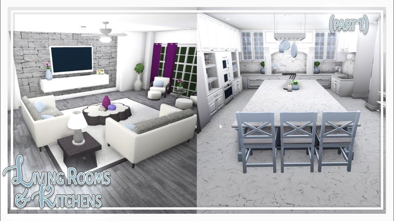 Bloxburg || Living Room & Kitchen Build (Part 1 of 2 ...