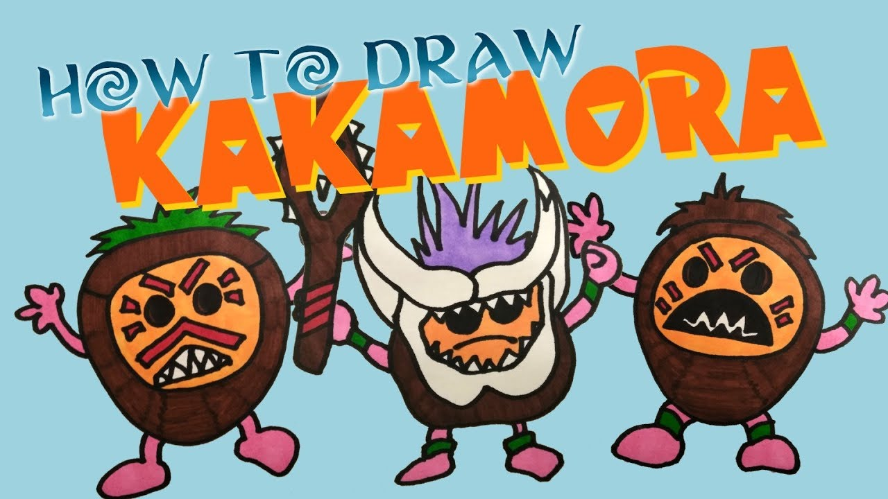 HOW TO DRAW KAKAMORA FROM MOANA