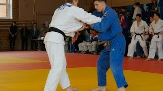 athletes judoists fight in judo competitions